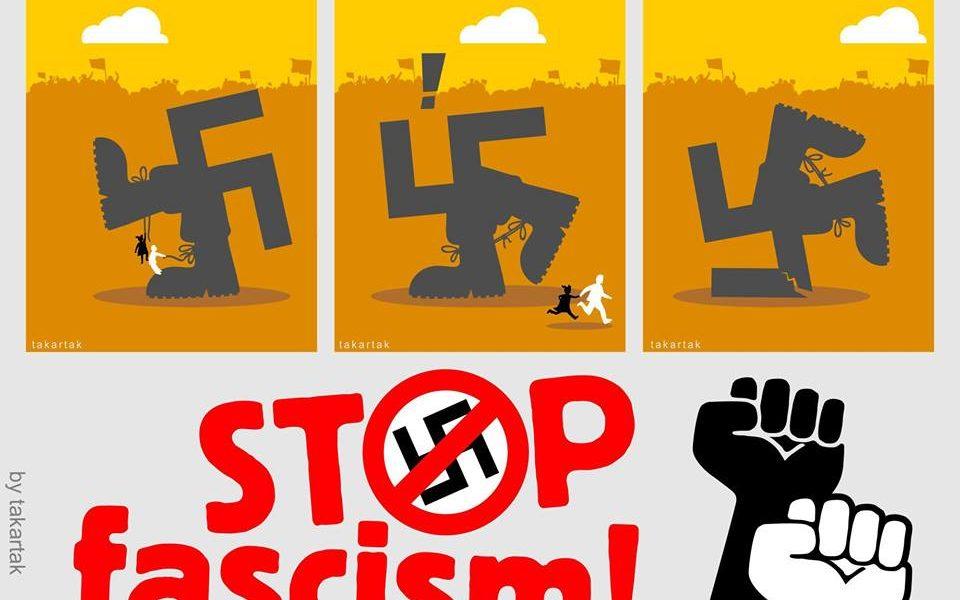 Καταδίκη φασιστικής επίθεσης σε εκλογικό περίπτερο Καμία ανοχή στο φασισμό!